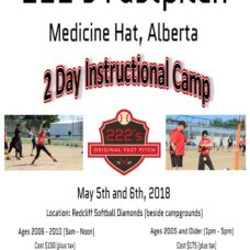 Medicine Hat – 2 Day Instructional Camp – May 5th, and 6th, 2018